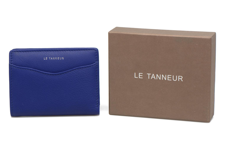 Kleine lederwaren Le Tanneur VALENTINE Porte-cartes anti-RFID Blauw detail