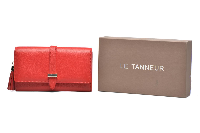 Petite Maroquinerie Le Tanneur CAPUCINE Porte-monnaie long Rouge vue  détail/paire