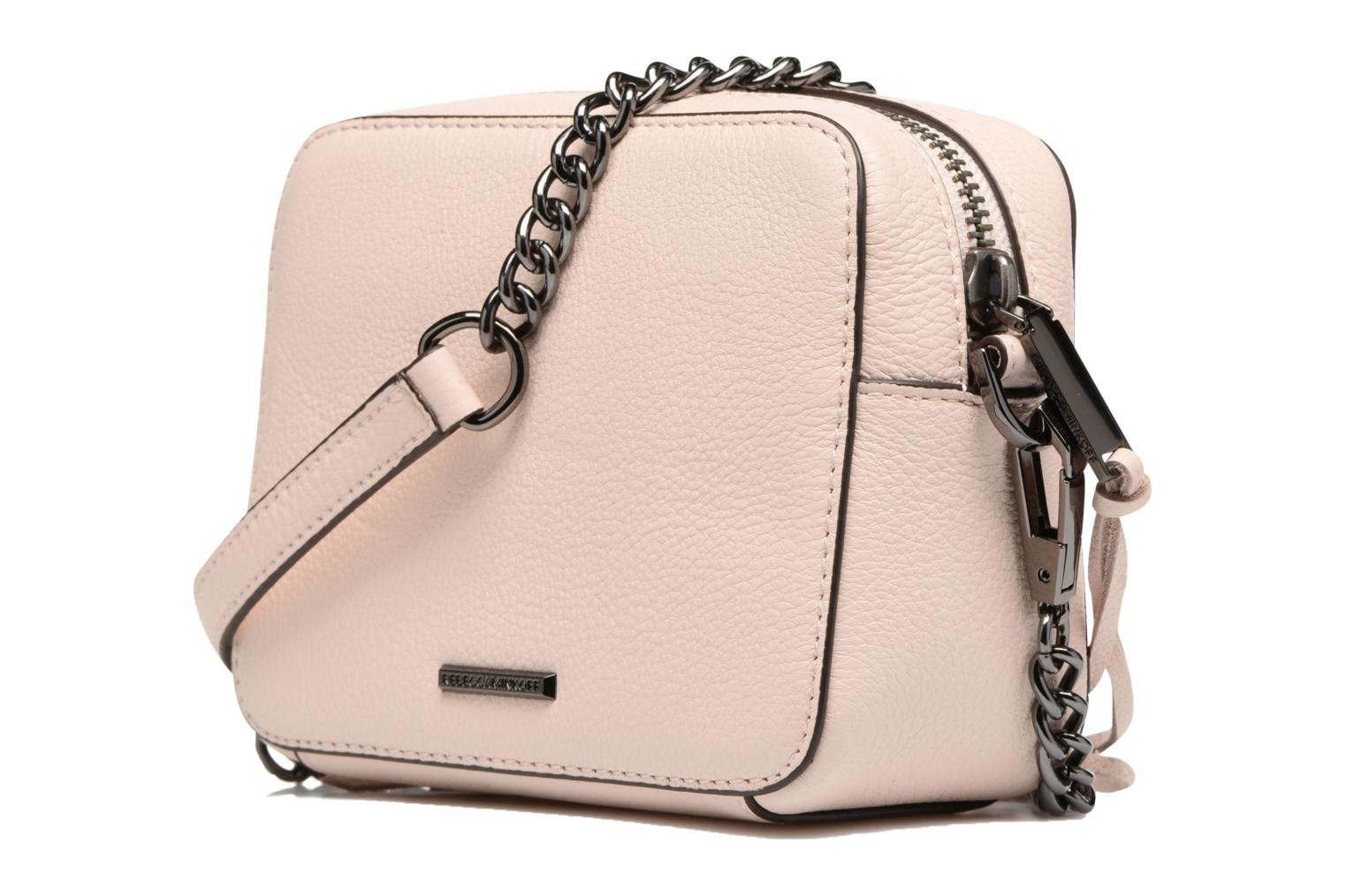 Handbags Rebecca Minkoff 4 ZIP MOTO CAMERA BAG Pink view from the right