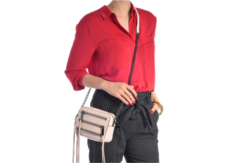Handbags Rebecca Minkoff 4 ZIP MOTO CAMERA BAG Pink view from above