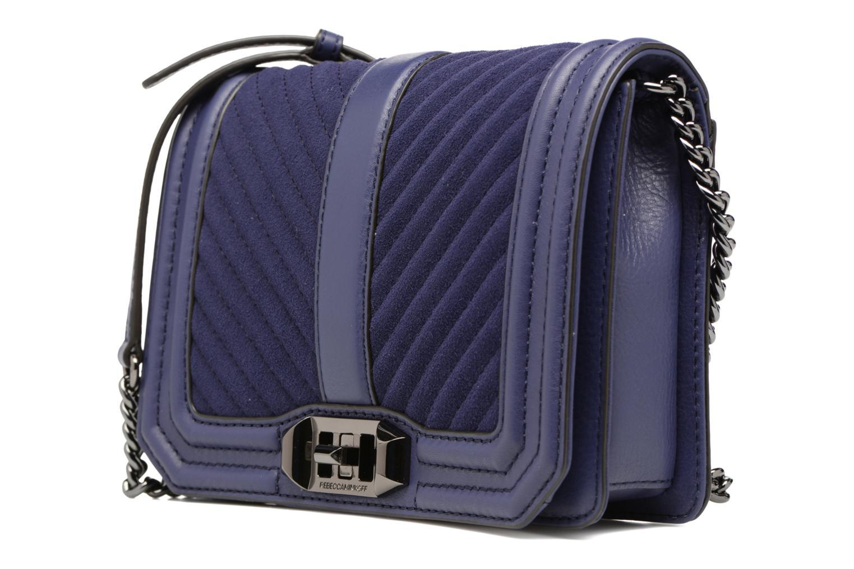Handtaschen Rebecca Minkoff CHEVRON QUILTED SMALL LOVE CRO blau schuhe getragen