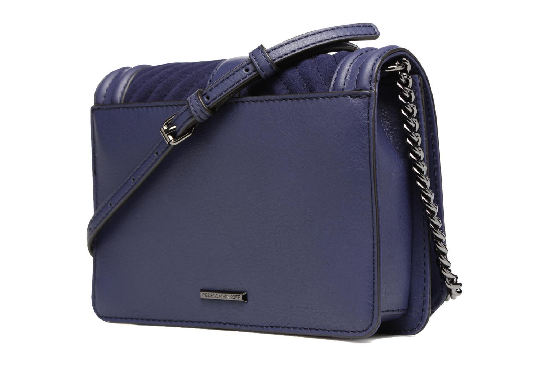 Handtaschen Rebecca Minkoff CHEVRON QUILTED SMALL LOVE CRO blau ansicht von rechts