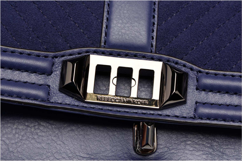 Handtaschen Rebecca Minkoff CHEVRON QUILTED SMALL LOVE CRO blau ansicht von links