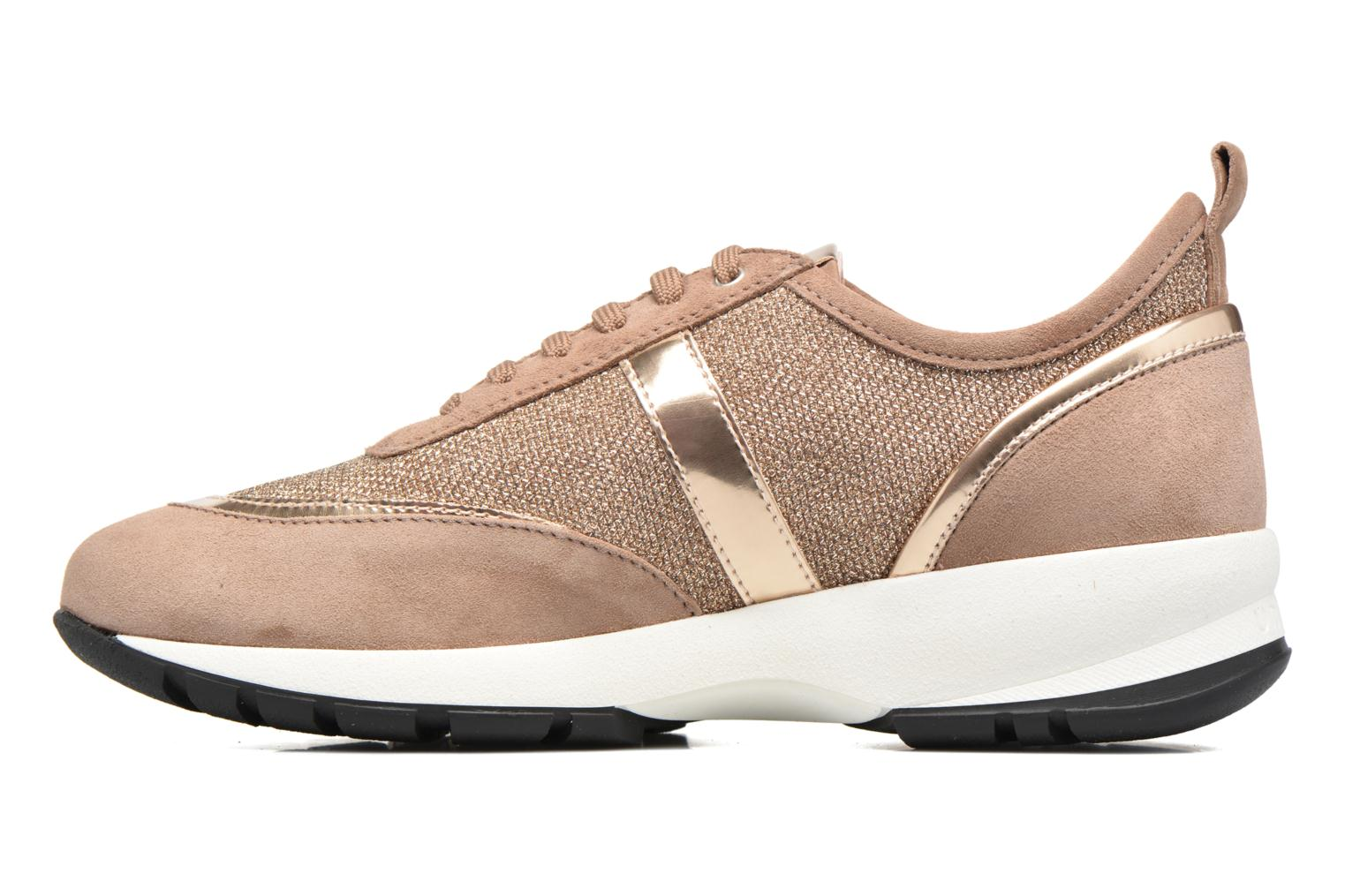 Trainers Unisa Elisa Bronze and Gold front view