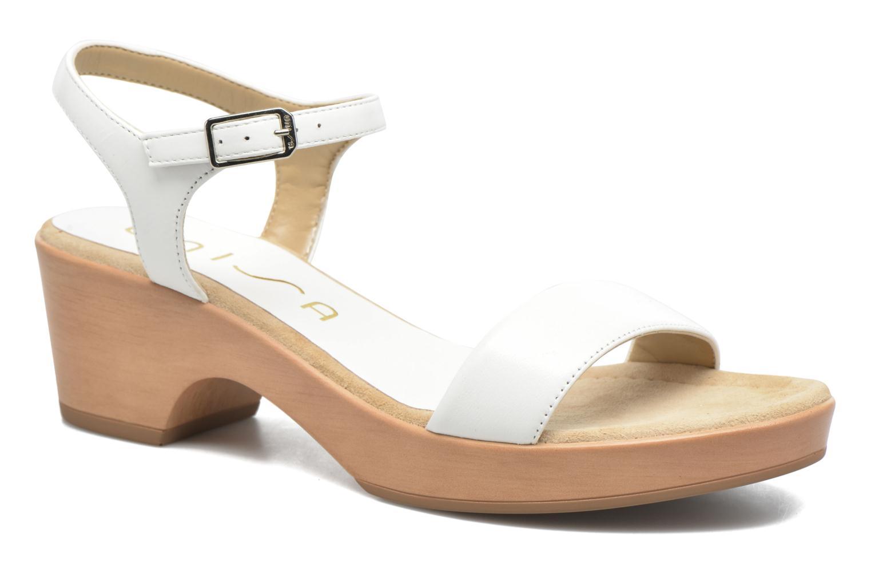 Marques Chaussure femme Unisa femme Irita 3 Napa Silk White