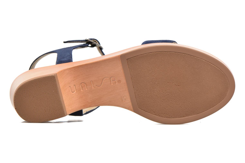 Sandales et nu-pieds Unisa Irita 2 Bleu vue haut