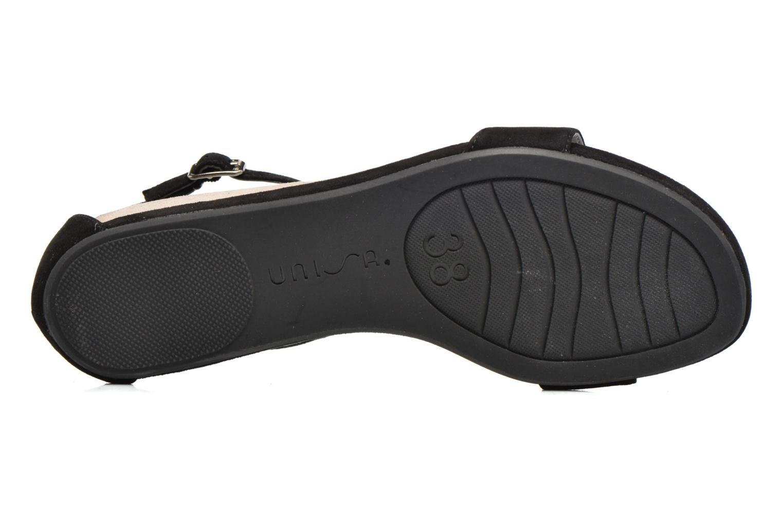 Sandales et nu-pieds Unisa Apice Noir vue haut