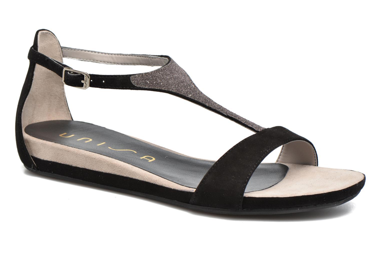 Sandales et nu-pieds Unisa Apice Noir vue détail/paire