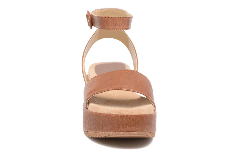 Sandales et nu-pieds Unisa Bueno Marron vue portées chaussures