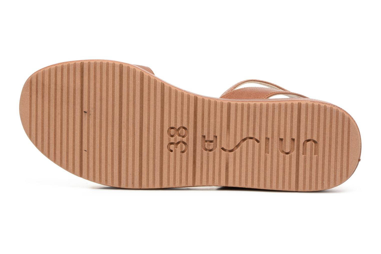 Sandales et nu-pieds Unisa Bueno Marron vue haut