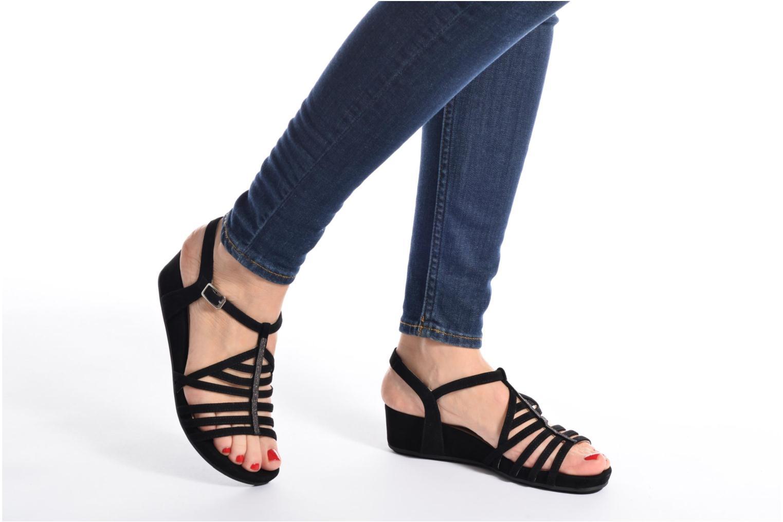 Sandales et nu-pieds Unisa Betis Noir vue bas / vue portée sac