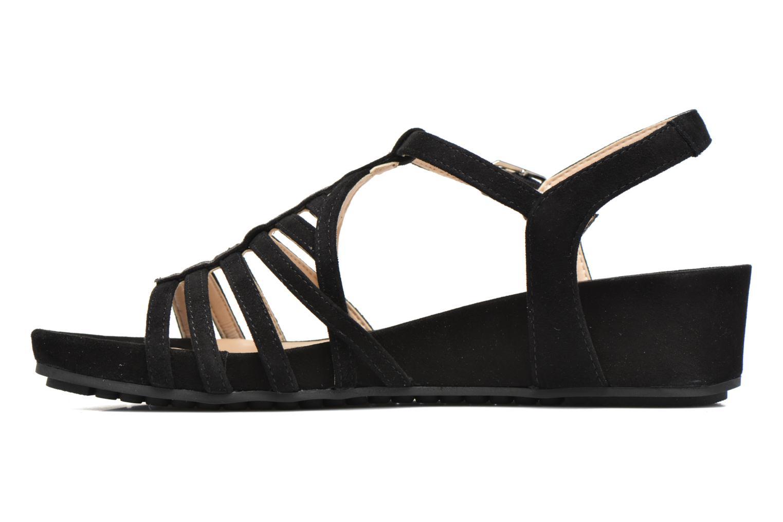 Sandales et nu-pieds Unisa Betis Noir vue face