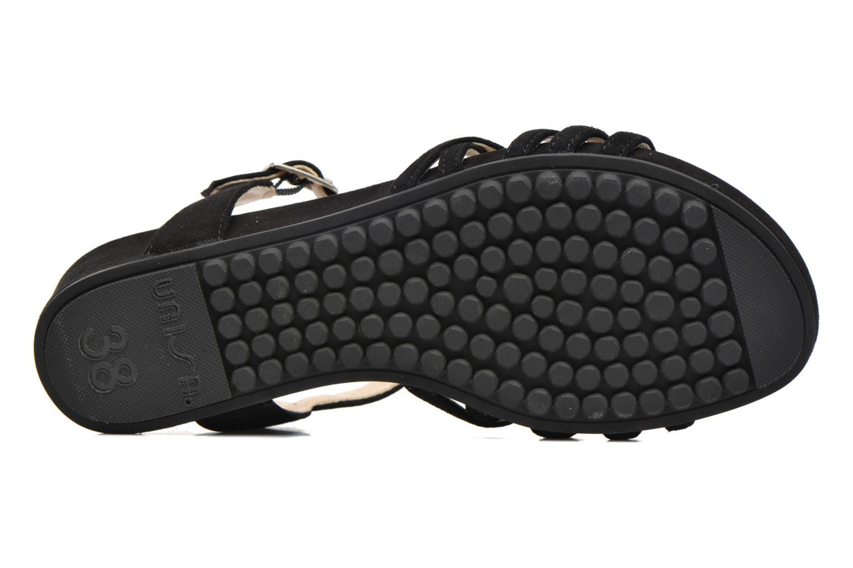 Sandales et nu-pieds Unisa Betis Noir vue haut