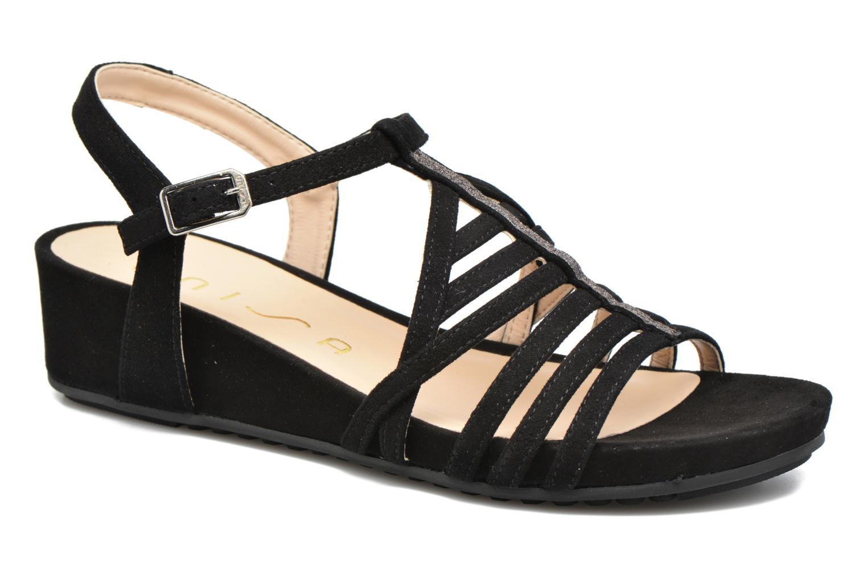 Sandales et nu-pieds Unisa Betis Noir vue détail/paire