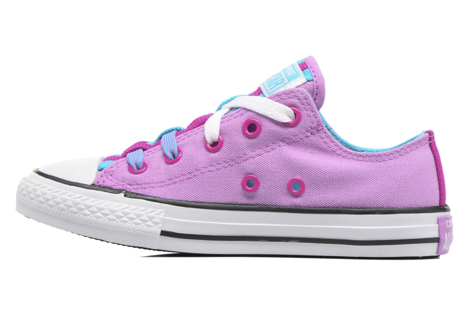 Baskets Converse Chuck Taylor All Star Loopholes Ox Violet vue face