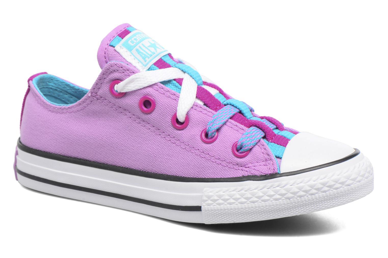 Sneakers Converse Chuck Taylor All Star Loopholes Ox Lilla detaljeret billede af skoene