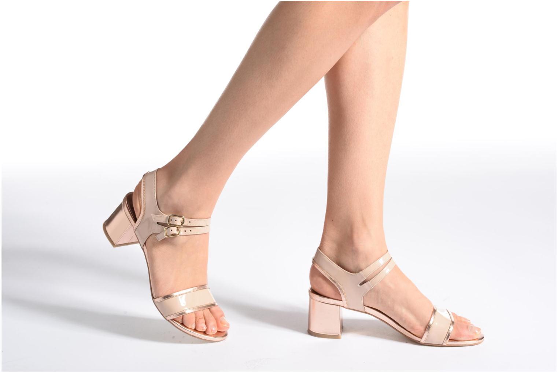Sandales et nu-pieds Made by SARENZA Pastel Belle #11 Rose vue bas / vue portée sac