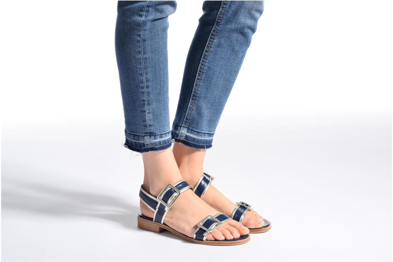 Sandales et nu-pieds Made by SARENZA Pastel Belle #3 Bleu vue bas / vue portée sac