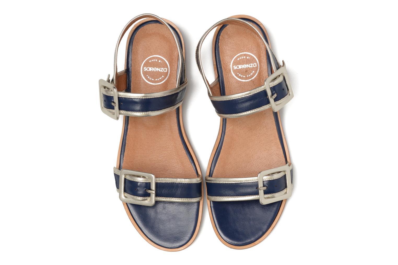 Sandalias Made by SARENZA Pastel Belle #3 Azul vista del modelo