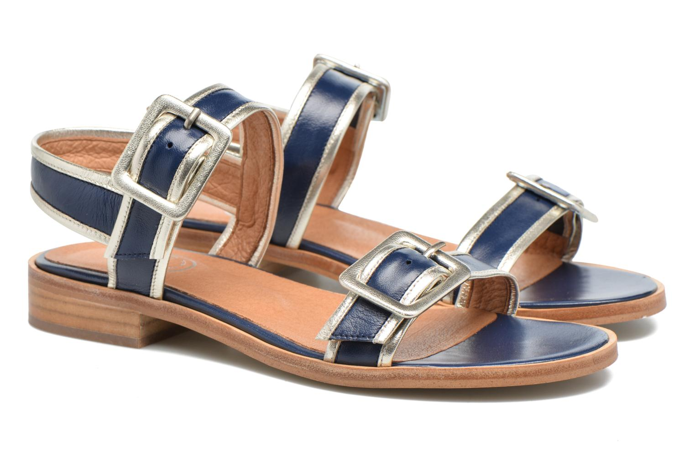 Sandalias Made by SARENZA Pastel Belle #3 Azul vistra trasera