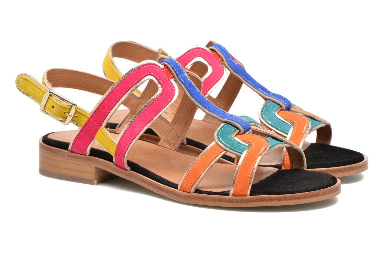 Sandales et nu-pieds Made by SARENZA Frida Banana #3 Multicolore vue derrière