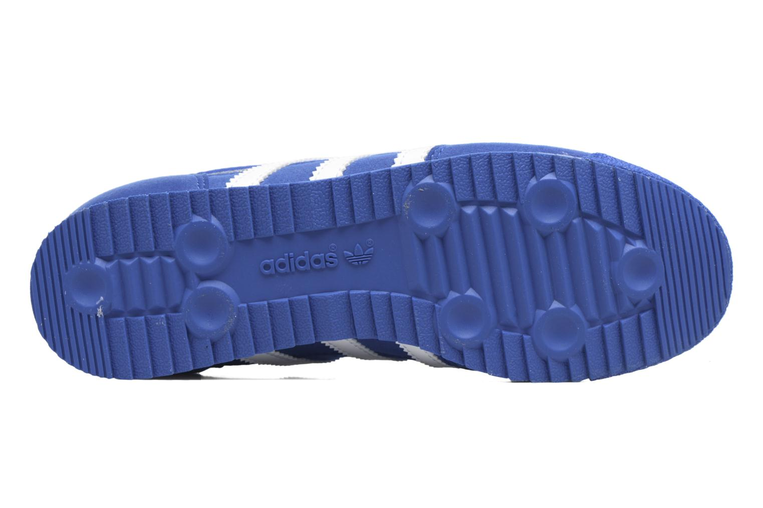 Baskets Adidas Originals Dragon Og J Bleu vue haut