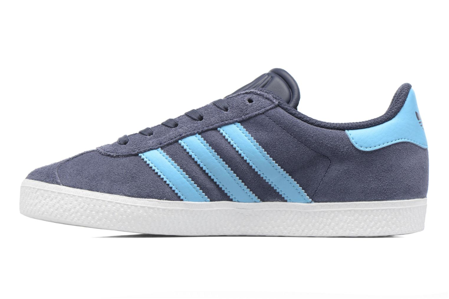 Baskets Adidas Originals Gazelle J Gris vue face