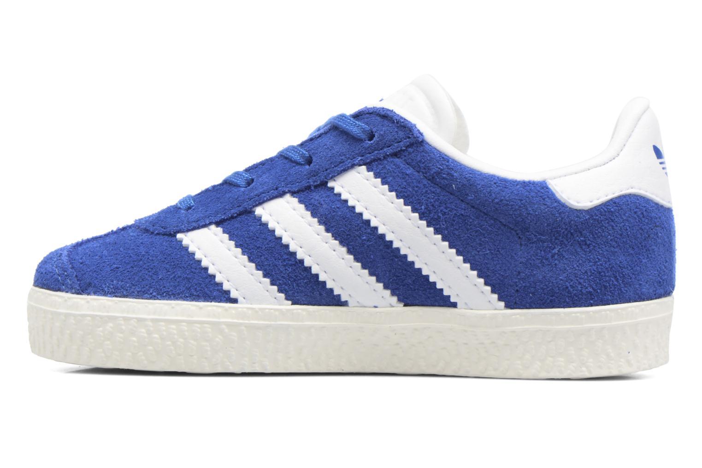 Baskets Adidas Originals Gazelle I Bleu vue face