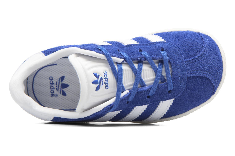 Baskets Adidas Originals Gazelle I Bleu vue gauche