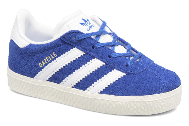 Baskets Adidas Originals Gazelle I Bleu vue détail/paire