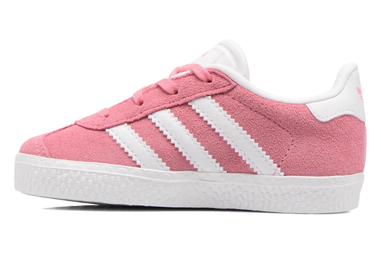 Baskets Adidas Originals Gazelle I Rose vue face