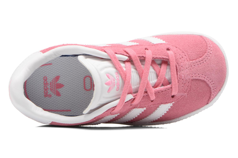 Baskets Adidas Originals Gazelle I Rose vue gauche