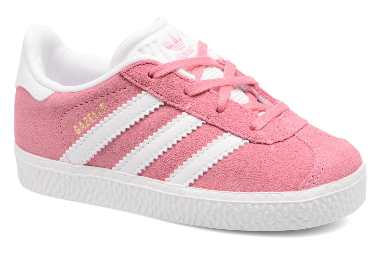 Baskets Adidas Originals Gazelle I Rose vue détail/paire