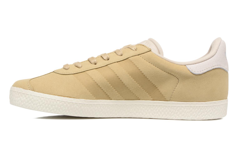 Baskets Adidas Originals Gazelle Fashion J Beige vue face