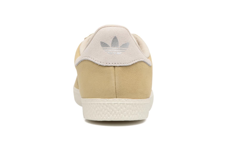 Baskets Adidas Originals Gazelle Fashion J Beige vue droite