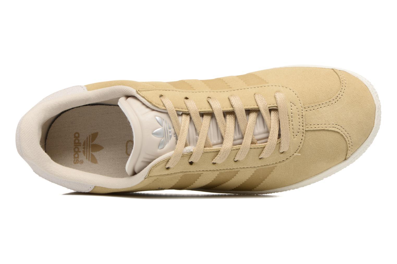 Baskets Adidas Originals Gazelle Fashion J Beige vue gauche