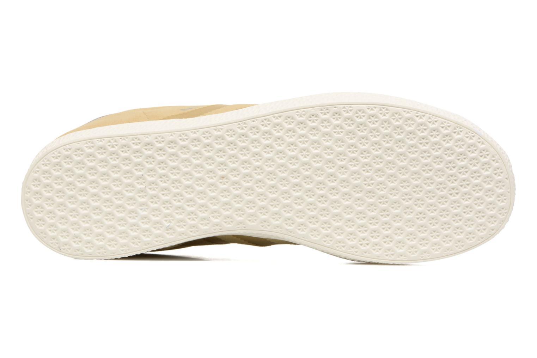 Baskets Adidas Originals Gazelle Fashion J Beige vue haut