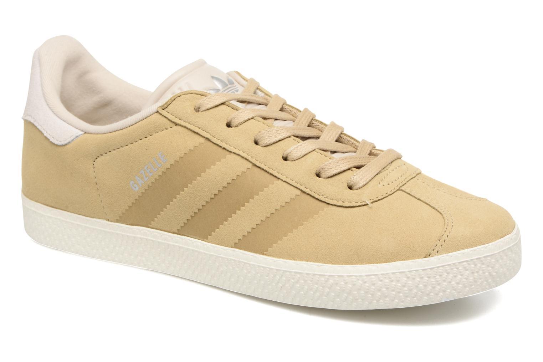 Baskets Adidas Originals Gazelle Fashion J Beige vue détail/paire