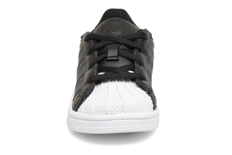 Baskets Adidas Originals Superstar I Noir vue portées chaussures