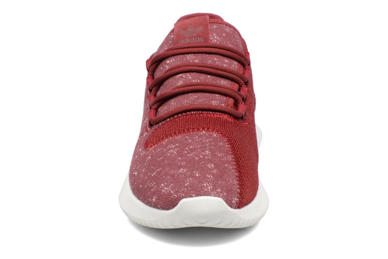 Baskets Adidas Originals Tubular Shadow J Bordeaux vue portées chaussures