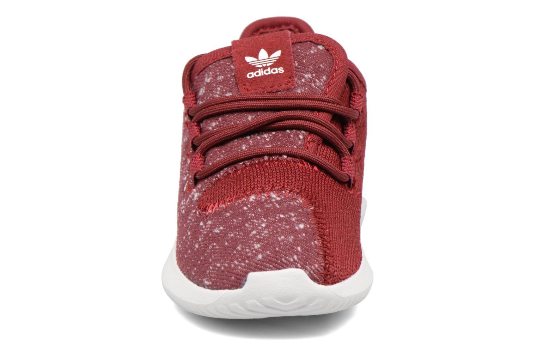 Baskets Adidas Originals Tubular Shadow I Bordeaux vue portées chaussures