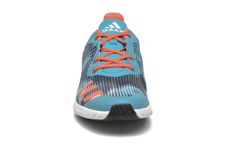 Baskets Adidas Performance Fortarun K Bleu vue portées chaussures