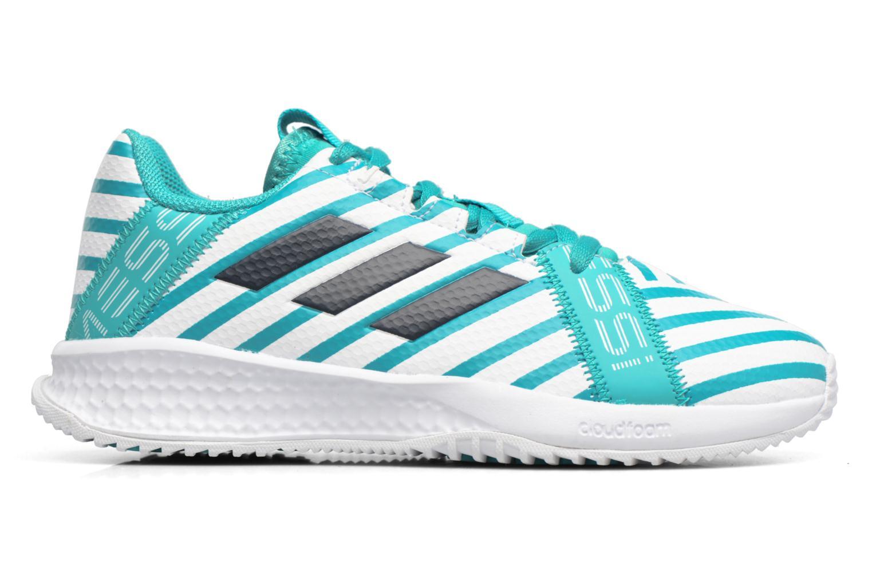 Sportschoenen Adidas Performance Rapidaturf Messi K Blauw achterkant