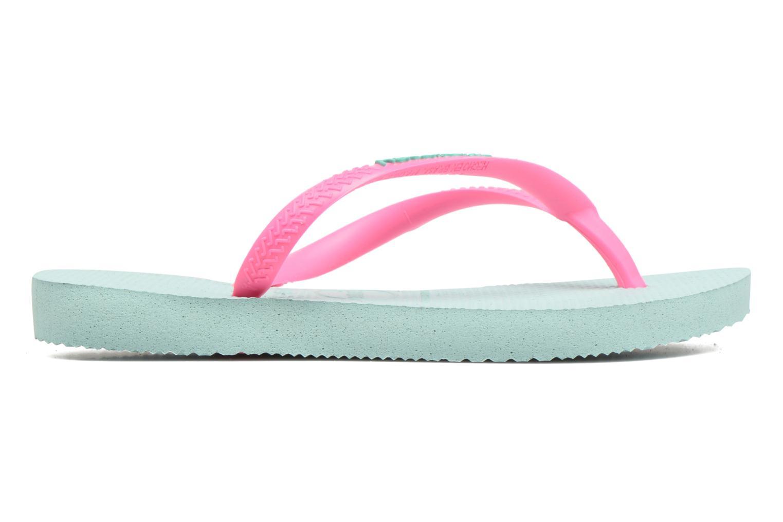 Flip flops & klipklapper Havaianas Kids Slim Logo Grøn se bagfra
