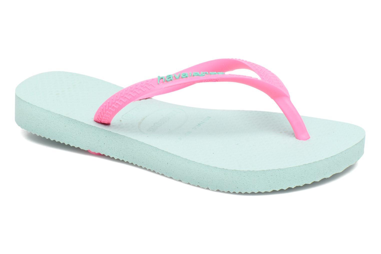 Flip flops & klipklapper Havaianas Kids Slim Logo Grøn detaljeret billede af skoene