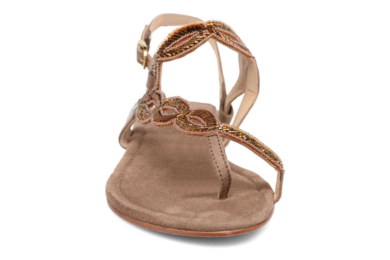 Sandales et nu-pieds Les Tropéziennes par M Belarbi Joie Marron vue portées chaussures