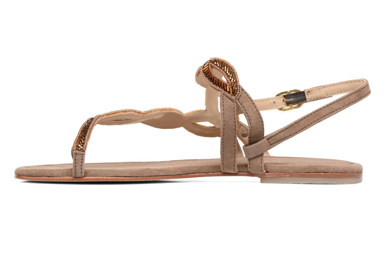 Sandales et nu-pieds Les Tropéziennes par M Belarbi Joie Marron vue face