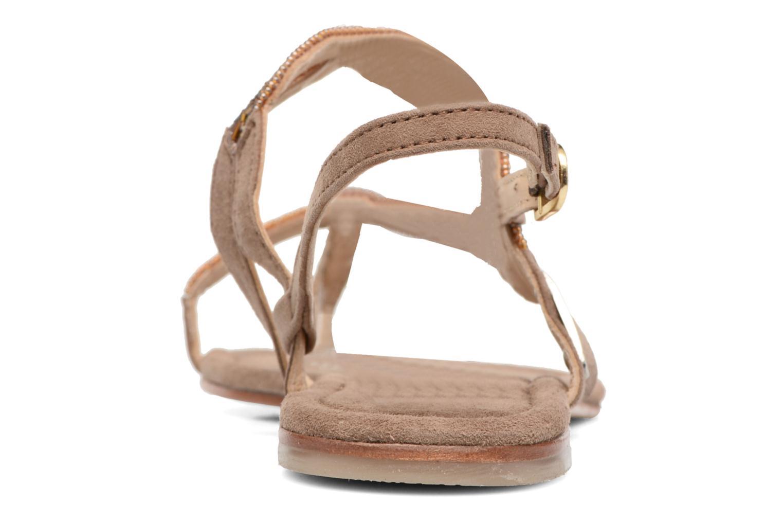 Sandales et nu-pieds Les Tropéziennes par M Belarbi Joie Marron vue droite