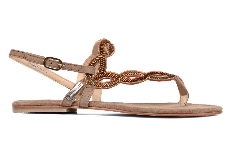 Sandales et nu-pieds Les Tropéziennes par M Belarbi Joie Marron vue derrière