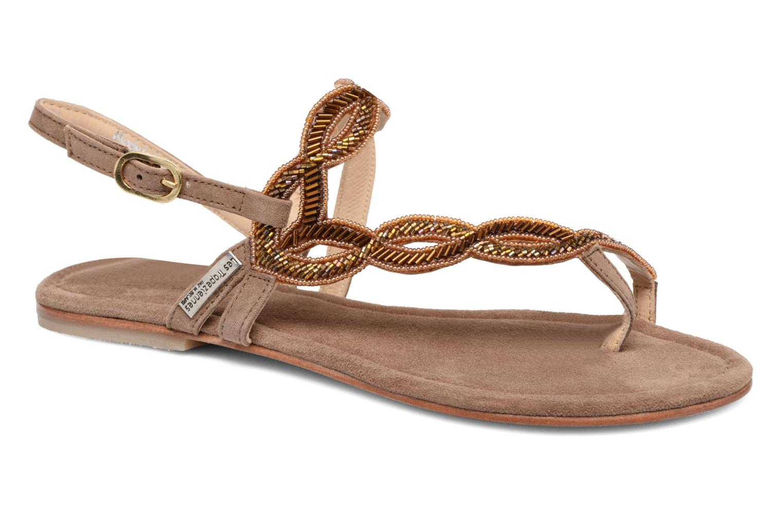 Sandales et nu-pieds Les Tropéziennes par M Belarbi Joie Marron vue détail/paire
